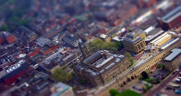 Bolton Town Hall - tiltshift