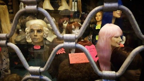 'Hair' - #Brussels #Belgium #hair #pink #urban #photography #hellhole #visitbrussels #welovebrussels #wigs #wig #shopwindow