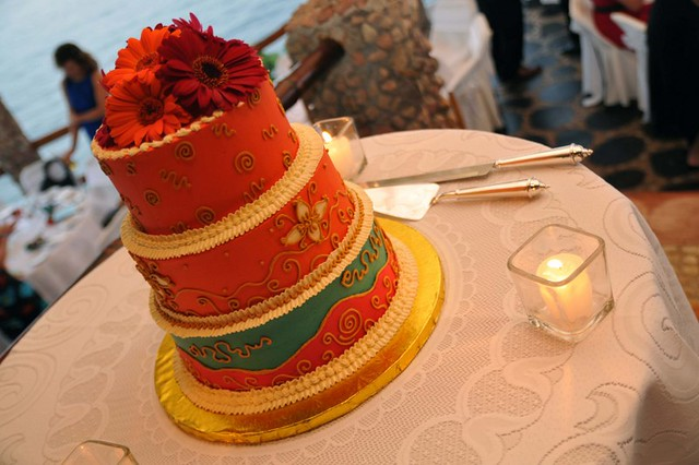 le cafe wedding cake le kliff restaurant vallarta wedding cake 2 16782