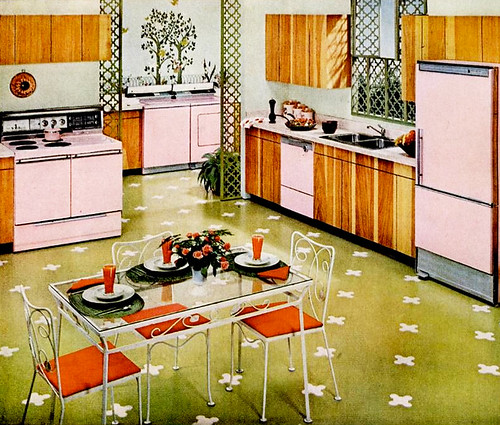 Mid century living kitchens 1960 65 for 60s kitchen ideas