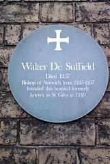 Photo of Walter De Suffield grey plaque
