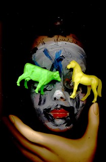 take hold of yon cow head horse clown