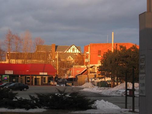 railroad winter sunset snow port train rail trains jervis njt newjerseytransit