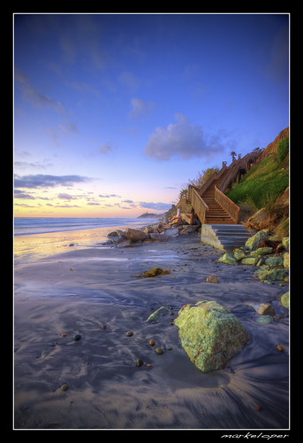 ocean california sunset sea by clouds canon high sand san dynamic pacific cardiff diego range hdr 50d markeloper