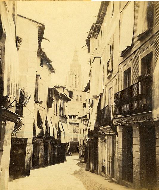 Calle ancha hacia 1860 por E. Làmy