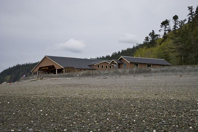 Boathouse at low tide