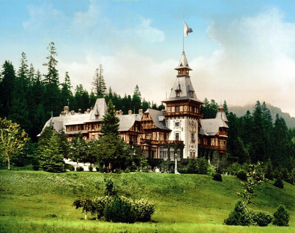 Peleş Castle. Sinaia, Romania. c. 1895