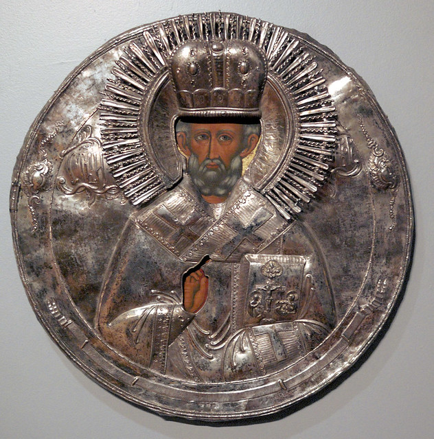 Russian Icon, at the Saint Louis University Museum of Art, in Saint Louis, Missouri, USA - Saint Nicholas 5
