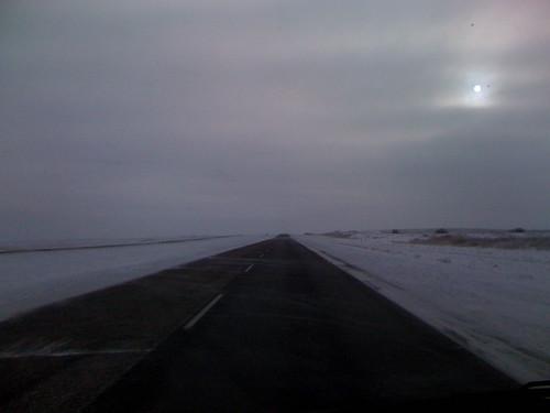 winter snow weather clouds highway driving saskatchewan highway11