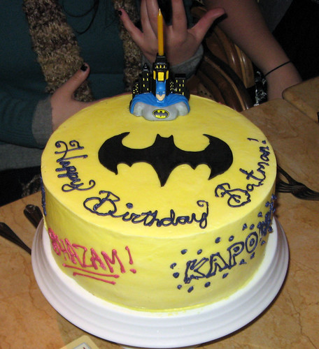batman themed buttercream birthday cake  Flickr - Photo Sharing!