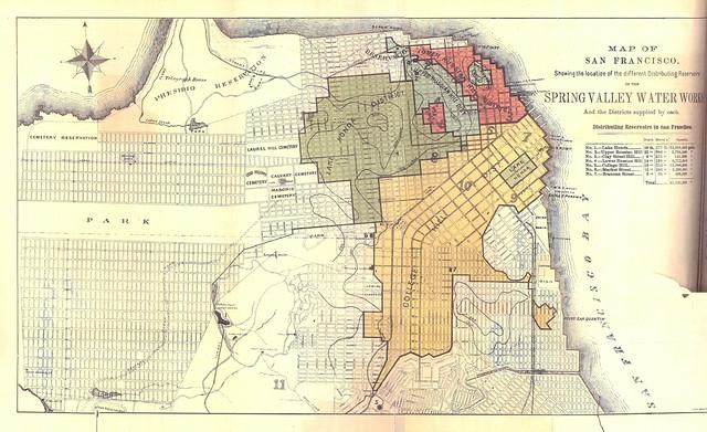 Distribution de l'eau sur cette carte de San Francisco de 1875. Image d'Eric Fischer @ Flickr