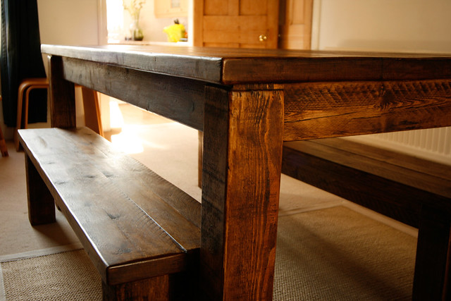 Solid Wood Farmhouse Kitchen Table