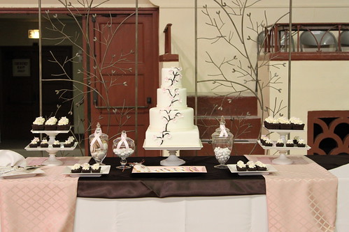 Wedding Show Cake / Dessert Table