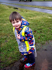 walking to the store   its all about the puddles   P…