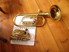 trombone(0.0), guitar(0.0), tuba(1.0), trumpet(1.0), horn(1.0), euphonium(1.0), brass instrument(1.0), wind instrument(1.0),