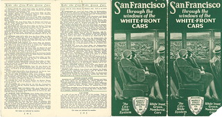 San Francisco Through the Windows of the White-Front Cars / Complete Map of the Market Street Railway Company's City Wide Service (1931)
