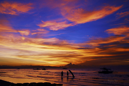 ocean sea beach nature sunrise landscape boat philippines silhouettes resort bohol visayas dbr panglaoisland centralvisayas fongetz francistan dumaluanbeachresort