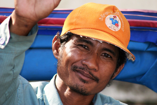 Portrait of a working man in Phnom Penh.