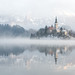 Bled on a foggy morning