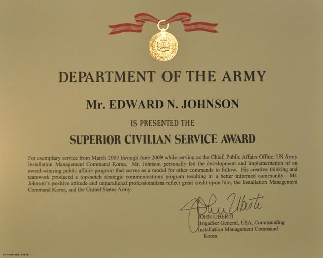 Superior Civilian Service Award Flickr Photo Sharing