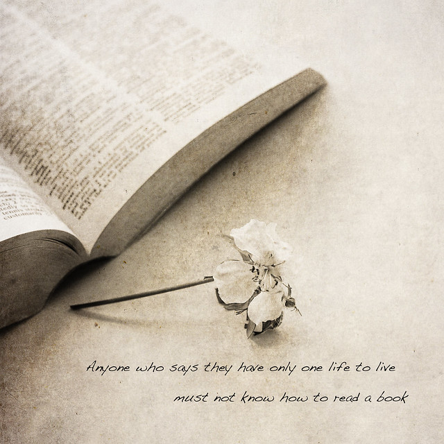 Anyone who says they have only one life to live must not know how to read a book. ~AuthorUnknown