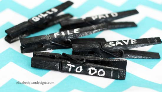 Chalkboard Clothes Pins 4