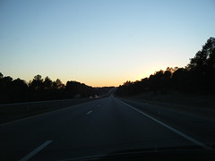 Sunset on I-20 towards Atlanta