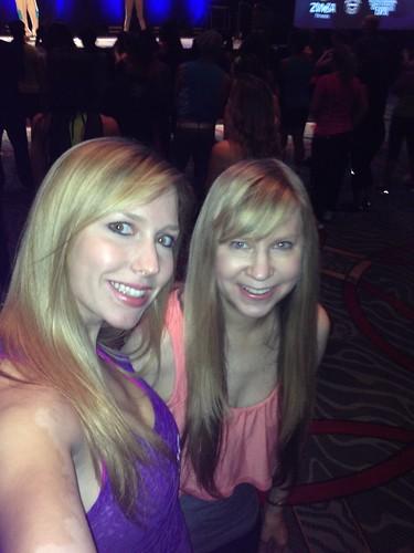 Christina and Deb at a Zumbathon