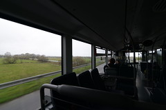 On our way from la Gare de Pontorson to Mont St Michel via a shuttle