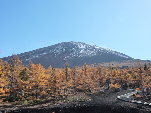 A picture of Mount Fuji, this was taken in October.