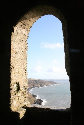 View from St.Michaels Chapel, Rame Head, Cornwall by Stocker Images