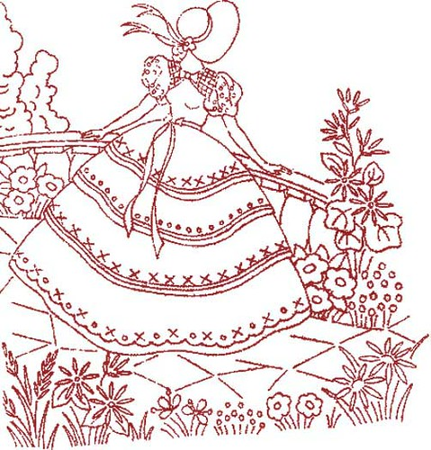 Bird Brain Designs - embroidery, redwork designs, redwork patterns