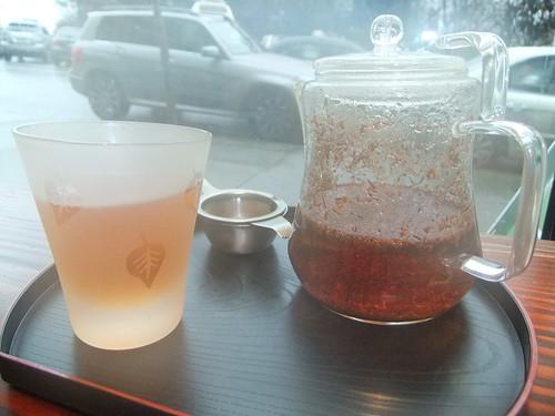 Rooibos tea. Splendid warming cuppa.