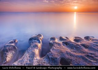 Kuwait - Enjefa Beach in Maseela at Sunrise during Beautiful Morning