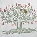 Christmas post: letterpress tree I by Catherine Dixon