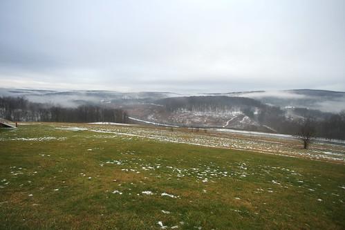 travel snow history fog clouds day flood pennsylvania southfork johnstownflood johnstownfloodnationalmemorial lakeconemaugh pwwinter