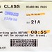 Small photo of Cathay Pacific boarding card