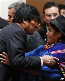 Bolivia cabinet member where 50 percent of the ministers are women. President Evo Morales is dedicated to the construction of socialism in Bolivia. by Pan-African News Wire File Photos