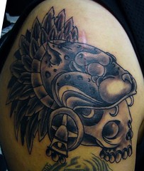 Aztec Headdress Tattoo