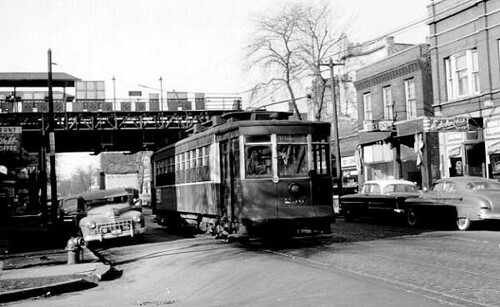 Chicago Surface Lines old Pulman electric streetcar # 236 working the Route # 52 Kedzie / California Avenue line. Chicago Illinois USA. Circa the early 1950's. by Eddie from Chicago