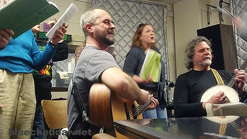 Marking 3 years of Wisconsin's Solidarity Sing Along at WORT FM 89.9 FM in Madison