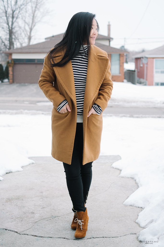 Oversized camel coat 009