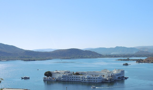 India (Udaipur) Magnifient Lake Palace, situated over an island in Lake Pichola. It was used as a royal summer palace.Now it is a hotel