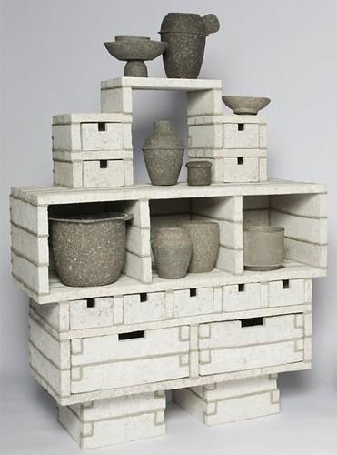 Muebles de papel mach for Muebles de papel