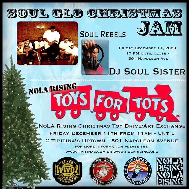 Toys For Tots Logo Flyer : Soul glo toys for tots official flyer nola rising event