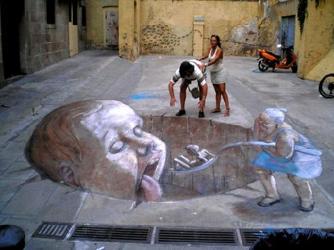 3D chalk drawings 24