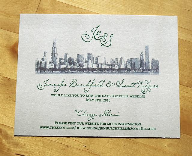 Chicago skyline wedding save