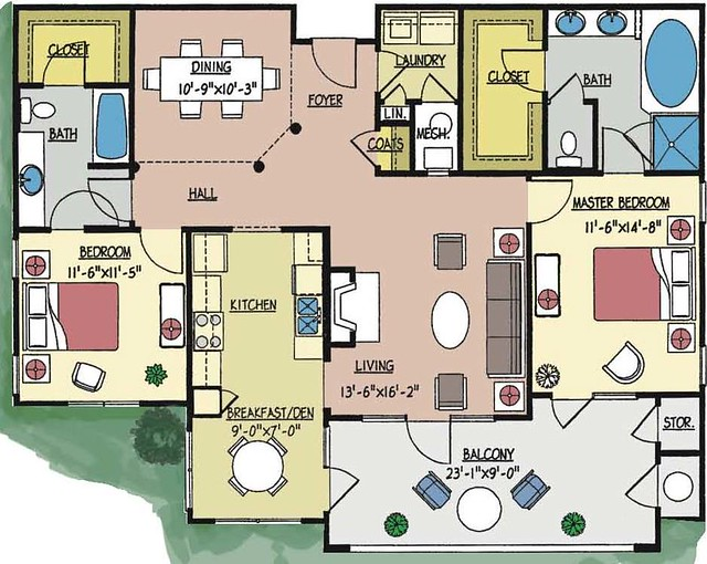 Condo 5054 Floor Plan 2 Bedroom 2 Bath First Floor Unit Flickr Phot