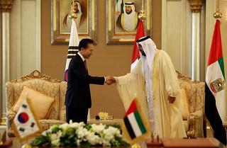 President Lee visiting the UAE, Dec. 2009