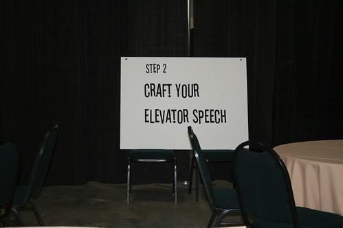 Craft your elevator speech